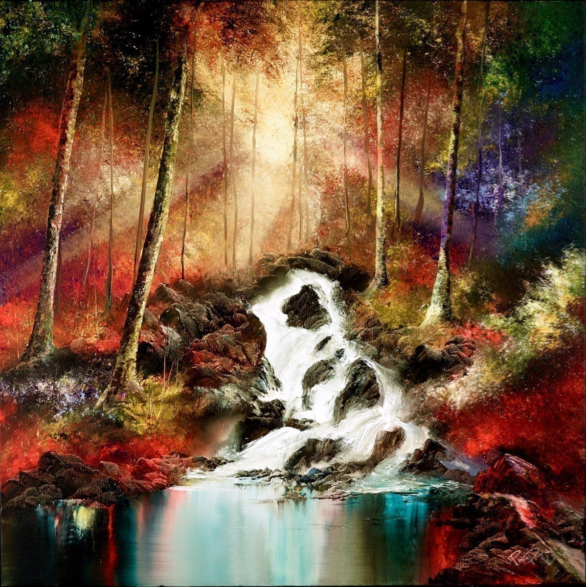 Waterfall by Philip Gray -  sized 36x36 inches. Available from Whitewall Galleries